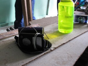 The necessities of life; water and an iPod!